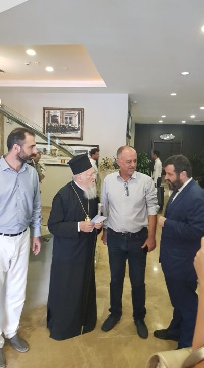 Τώρα - Η άφιξη του Οικουμενικού Πατριάρχη στον Πάνορμο