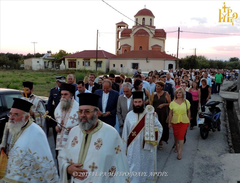 Μεταμόρφωση Σωτήρος: Πλήθος πιστών στον Πανηγυρικό Εσπερινό στην Άρτα