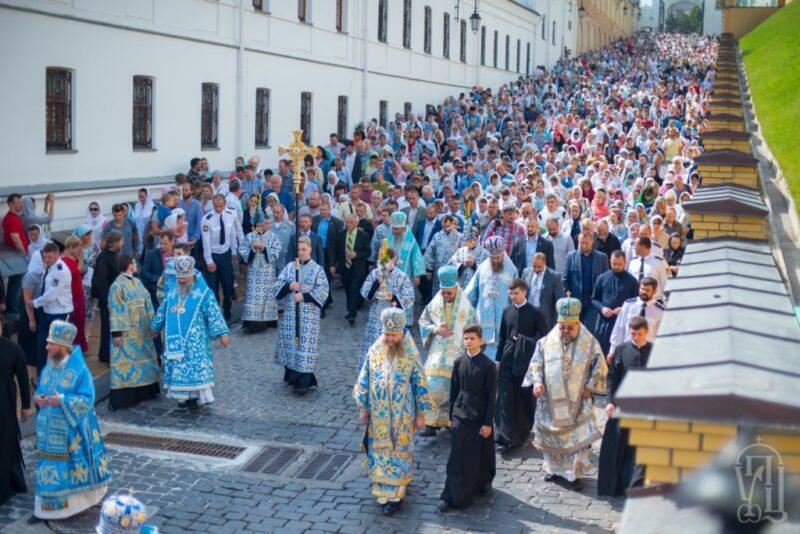 Λαμπρός εορτασμός της Παναγίας στο Κίεβο