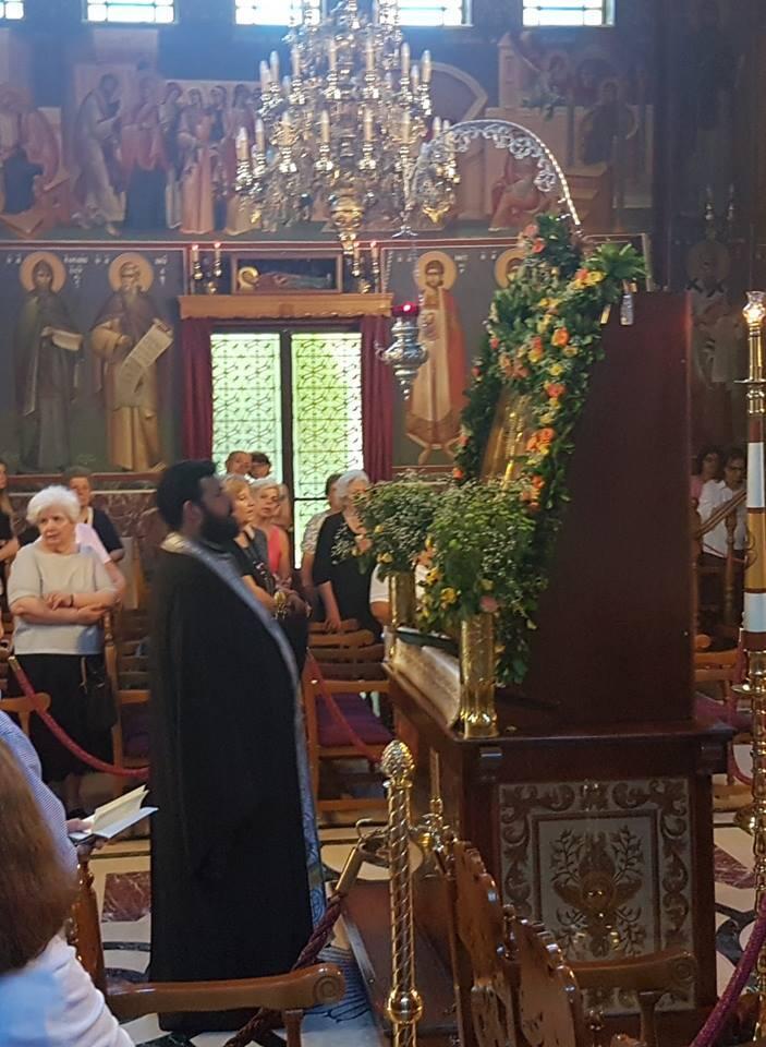Παράκληση στην Υπεραγία Θεοτόκο στον Ιερό Ναό Αγίας Τριάδος Κηφισιάς