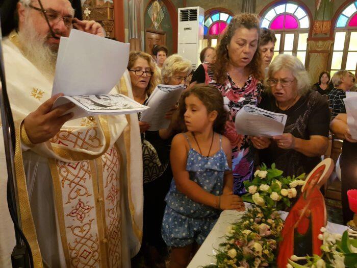 Κοίμηση της Θεοτόκου - Ρόδος: Πλήθος πιστών στον Ιδρυματικό Ναό Αγίου Τρύφωνος
