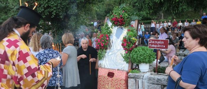 Μεταμόρφωση Σωτήρος: Εκατοντάδες πιστοί συνέρρευσαν στην Πανήγυρη της Μονής Παναγίας του Αγάθωνος