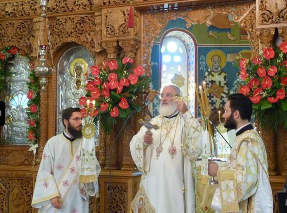 Εορτής της Κοιμήσεως της Θεοτόκου στον Ιερό Ναό Μεγάλης Παναγίας Νεαπόλεως