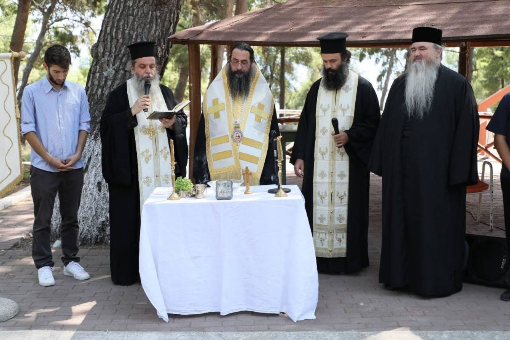 Ο Αρχιεπίσκοπος Κατάρ στις κατασκηνώσεις της Ι.Μ. Καλαμαριάς