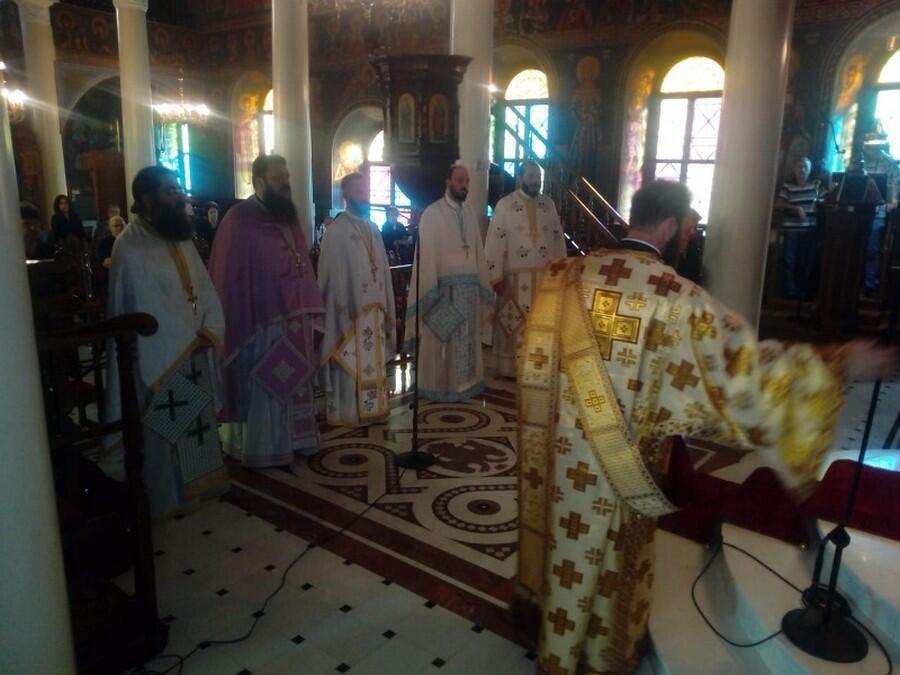 Τιμήθηκε η μνήμη του ΑγίουΤιμοθέου Επισκόπου Ευρίπου στην Χαλκίδα