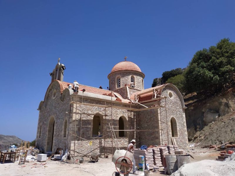 Συνεχίζονται, με γοργούς ρυθμούς οι εργασίες ανέγερσης του Ι. Προσκυνηματικού Ναού Οσίου Νικηφόρου του Λεπρού