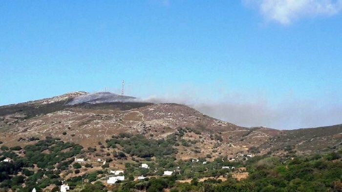 Φωτιά Άνδρος Τώρα: Μεγάλη Πυρκαγιά