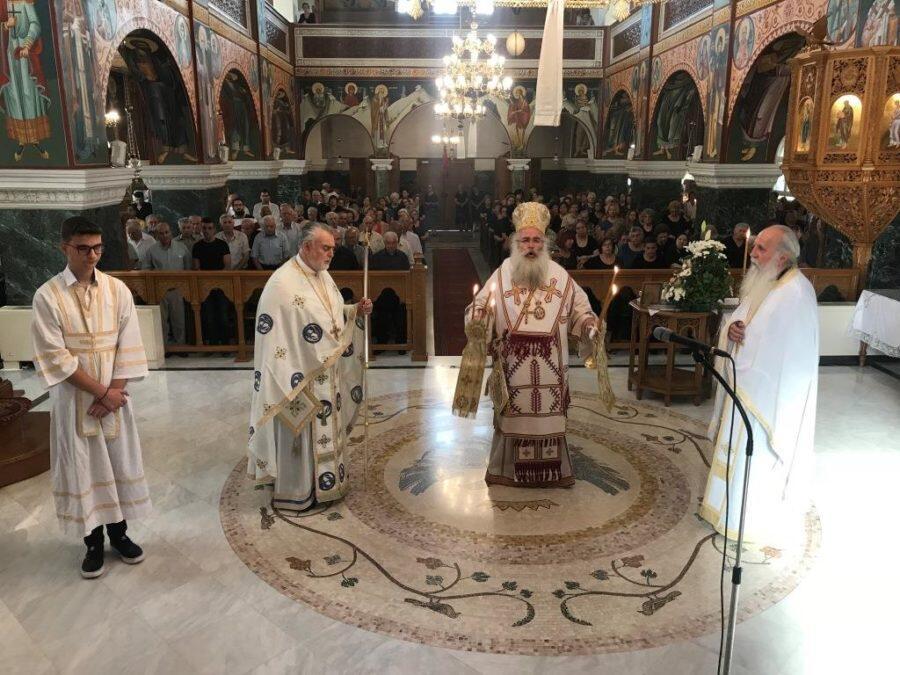 Σητεία: Aρχιερατική Θεία Λειτουργία στον Ιερό Ναό Eυαγγελισμού Θεοτόκου