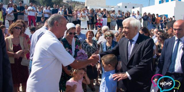 Αμοργός: Ο Πρόεδρος της Δημοκρατίας στον ιστορικό Ναό Μεταμορφώσεως