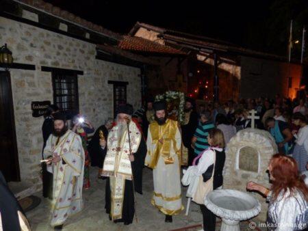 Υπαίθρια Αγρυπνία στην Ιερά Μονή Παναγίας Μαυριωτίσσης