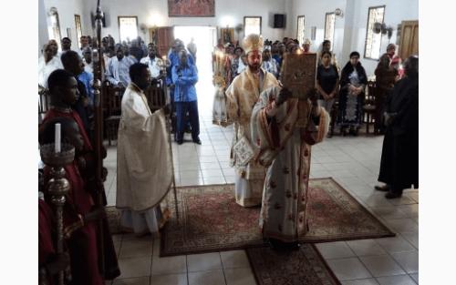 Θεία Λειτουργία στον Ναό Αγίου Δημητρίου Pointe-Noire