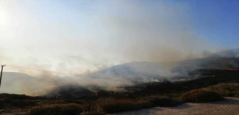 Πάρος Φωτιά ΤΩΡΑ: Υπό έλεγχο η πυρκαγιά
