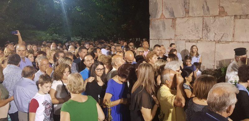 Κοσμοπλημμύρα στον ιστορικό Ναό Πόρτας Παναγιάς στην Πύλη Τρικάλων