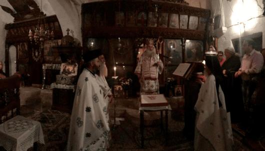 Ο Ιεραπύτνης Κύριλλος προέστη κατά την Αγρυπνία στην Ι. Μονή Καψά επί τη μνήμη του Οσίου Ιωσήφ του Γεροντογιάννη
