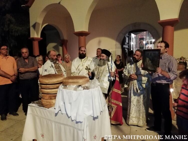 Κοίμηση της Θεοτόκου: Λαμπρός Εορτασμός στη Μητρόπολη Μάνης