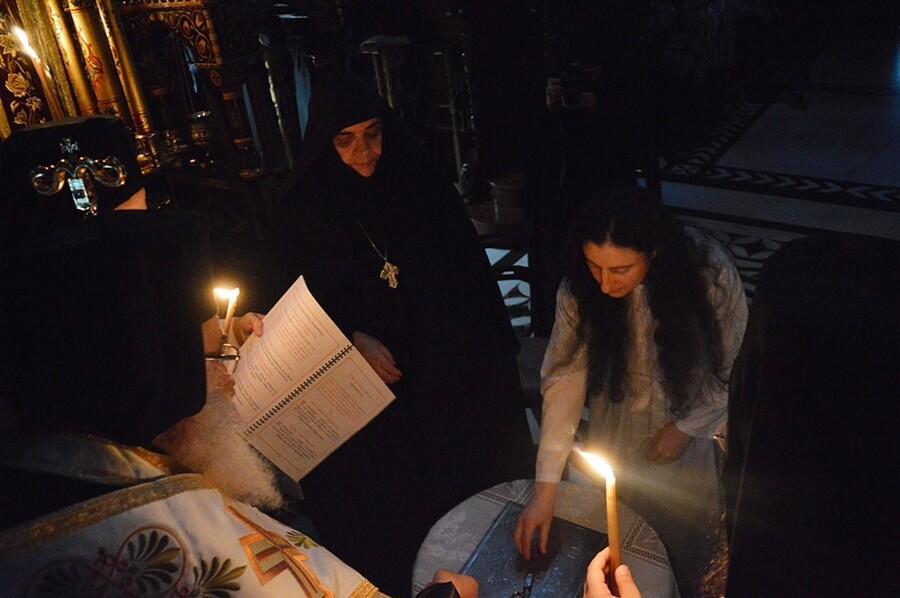 Μεγαλοσχημία Μοναχής στη Μονή Αγ. Γρηγορίου Παλαμά Κουφαλίων
