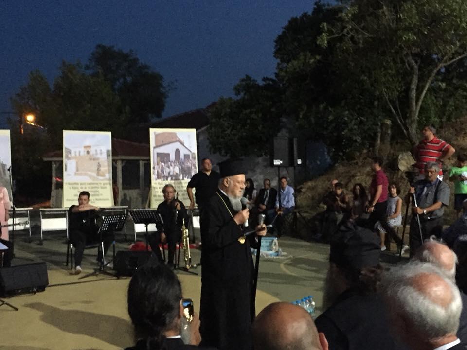 Ο Οικουμενικός Πατριάρχης σε μουσική εκδήλωση στην Ίμβρο