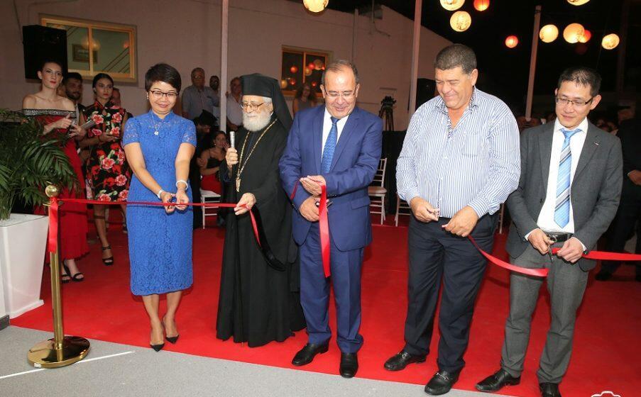 Ο Κωνσταντίας Βασίλειος σε εγκαίνια νέων γραφείων πολυεθνικής εταιρείας στο Παραλίμνι