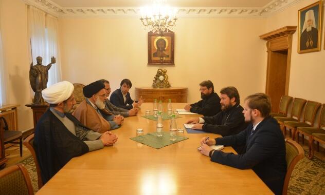 Συνάντηση του Μητροπολίτη Ιλαρίωνα με τον Αγιατολλά Σεγιέντ Μουσαβί