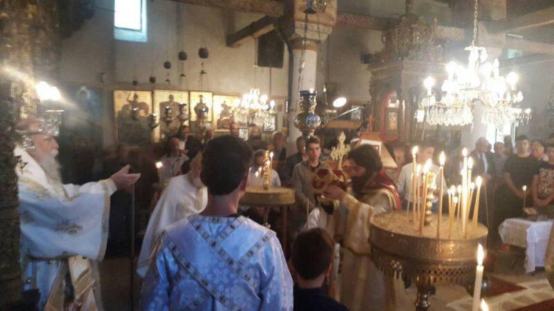Θεία Λειτουργία στο Περιβόλι Γρεβενών