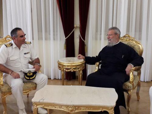 Επίσκεψη Κυβερνήτη ΠΓΥ «Προμηθέας» στον Αρχιεπίσκοπο Κύπρου