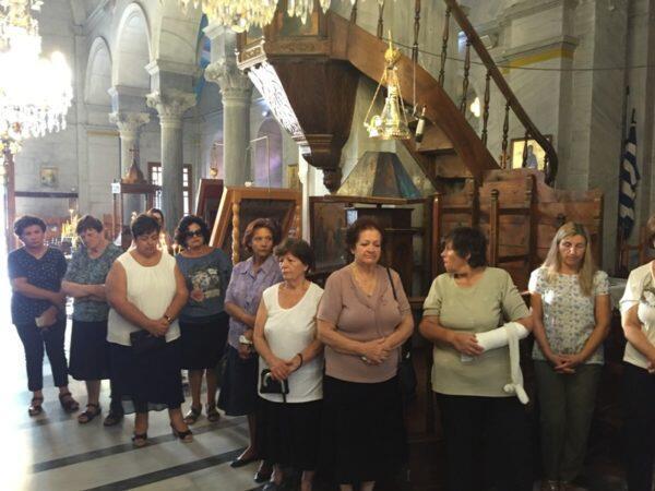 Νάξος: Ο Μητροπολίτης Καλλίνικος τέλεσε την Εξόδιο Ακολουθία της Πρεσβυτέρας Αντιγόνης Λογαρά