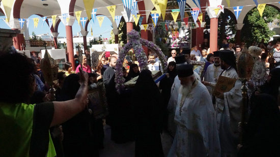 Λαμπρή εορτή της Κοιμήσεως της Θεοτόκου στην Ι. Μ. Παναγίας Καλυβιανής