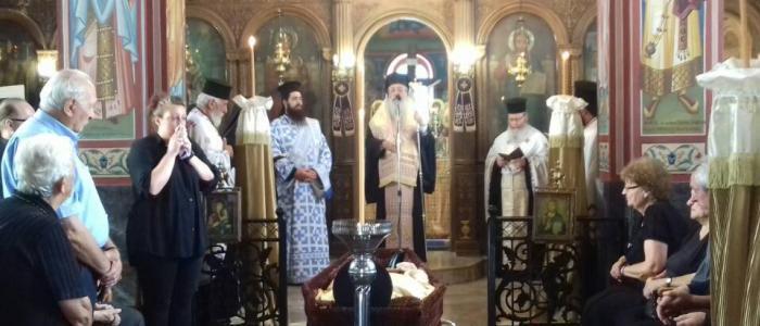 Λιανοκλάδι: Η Εξόδιος Ακολουθία του Ιερέως π. Βασιλείου Χατζηχρίστου