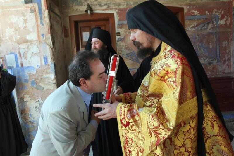 Αγιο Όρος: Στις Μονές Χιλανδαρίου, Διονυσίου και Αγίου Παύλου ο Κωνσταντίνος Δήμτσας