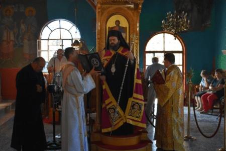 Πανηγυρική Θεία Λειτουργία στην Μονή Παναγίας Φανερωμένης Βαθυρρύακο