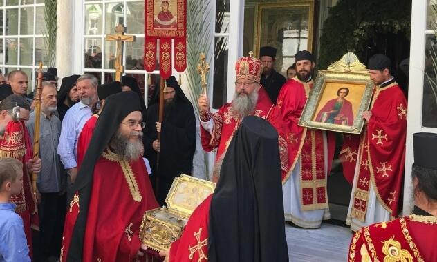 Αγιο Όρος: Προσκυνητές από την Εκκλησία της Ρωσίας στους εορτασμούς με αφορμή την πανήγυρη της Μονής Αγίου Παντελεήμονος Ρωσικού