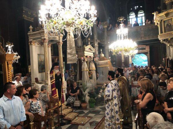 Ο εορτασμός της Κοιμήσεως της Θεοτόκου στην Μητρόπολη Θηβών
