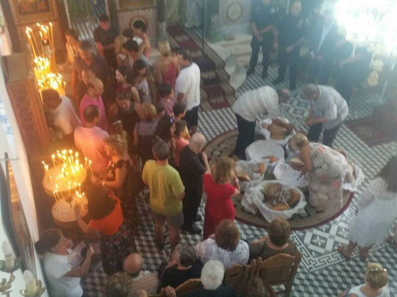 Ο εορτασμός της Κοιμήσεως της Υπεραγίας Θεοτόκου στο Κεφάλι Καλάμου