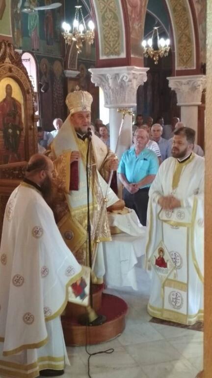 Μεγαλοπρεπώς εορτάσθηκε η Κοίμηση της Θεοτόκου στη Μητρόπολη Κορίνθου