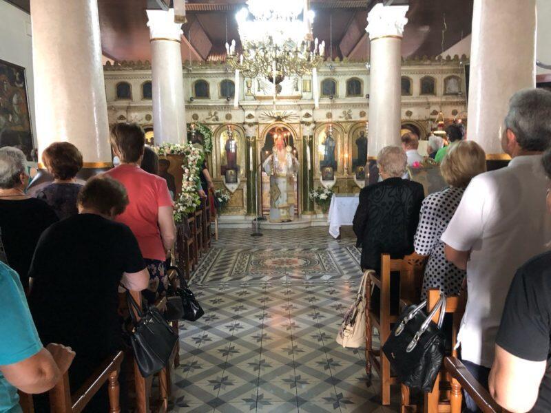 Θεία Λειτουργία στον Ιερό Ναό Αγίας Παρασκευής Λεβαδείας