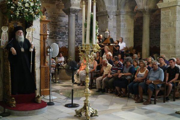 Παράκληση στη Υπεραγία Θεοτόκο στο Προσκύνημα της Παναγίας Εκατονταπυλιανής Πάρου