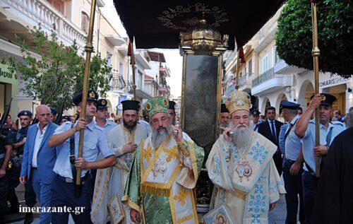 Ο Άγιος της Συγνώμης λιτανευτηκε στην πόλη της Ζακύνθου