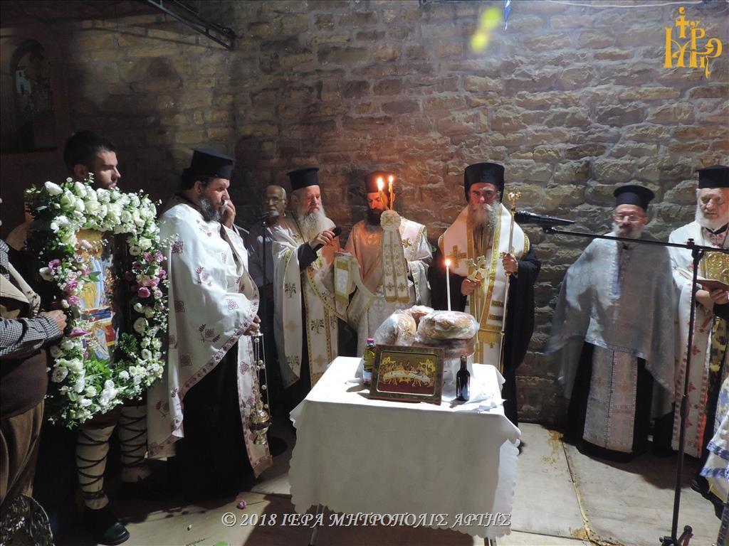 Κοίμηση της Θεοτόκου: Λαμπρός Εορτασμός στην Ενορία Σελλάδων Άρτης