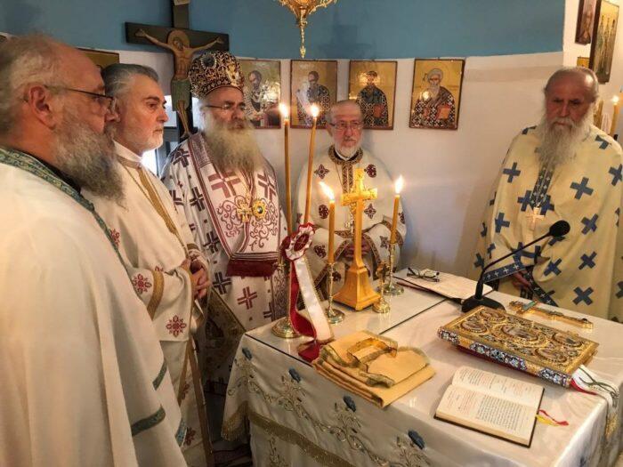 Αρχιερατική Θεία Λειτουργία στον πανηγυρίζοντα Ναό Αγίου Ιωάννου Προδρόμου στα «Λειβάδια» Σητείας