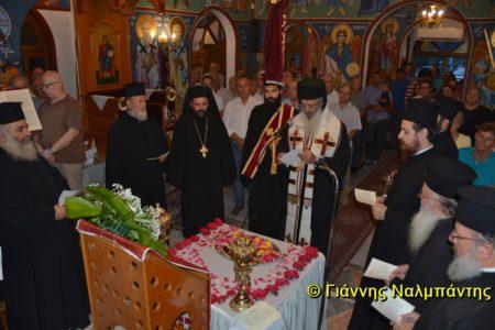 Το ιερό πετραχείλι του Αγίου Εφραίμ της Νέας Μάκρης στον Ι.Ν. Αγίου Γεωργίου Ελαιώνος Μάκρης