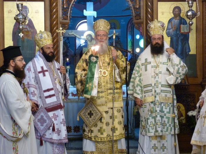 Κυριακή Πρό της Υψώσεως του Τιμίου Σταυρού στη Μητρόπολη Πέτρας