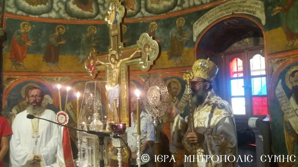 Σύμης Χρυσόστομος και εκατοντάδες πιστοί στον Πανορμίτη