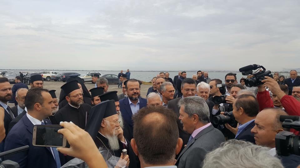 Ο Οικουμενικός Πατριάρχης στη λιμνοθάλασσα του Καλοχωρίου