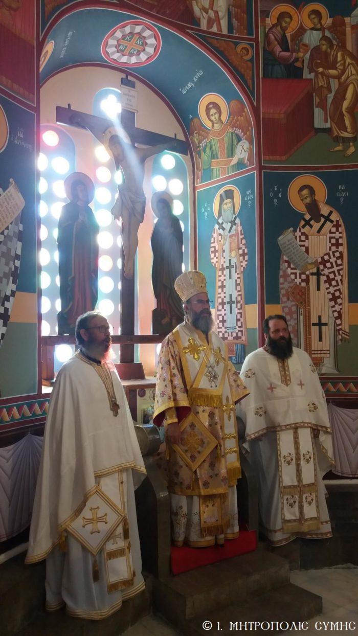 Κυριακάτικη Θεία Λειτουργία Σύμης Χρυσοστόμου στην Αγία Τριάδα