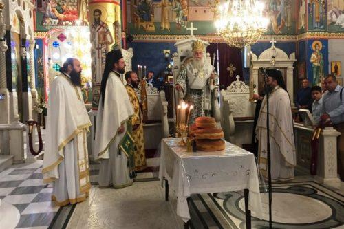 Ο Επίσκοπος Μεθώνης στο Προσκύνημα του Οσίου Ιωάννου του Ρώσσου