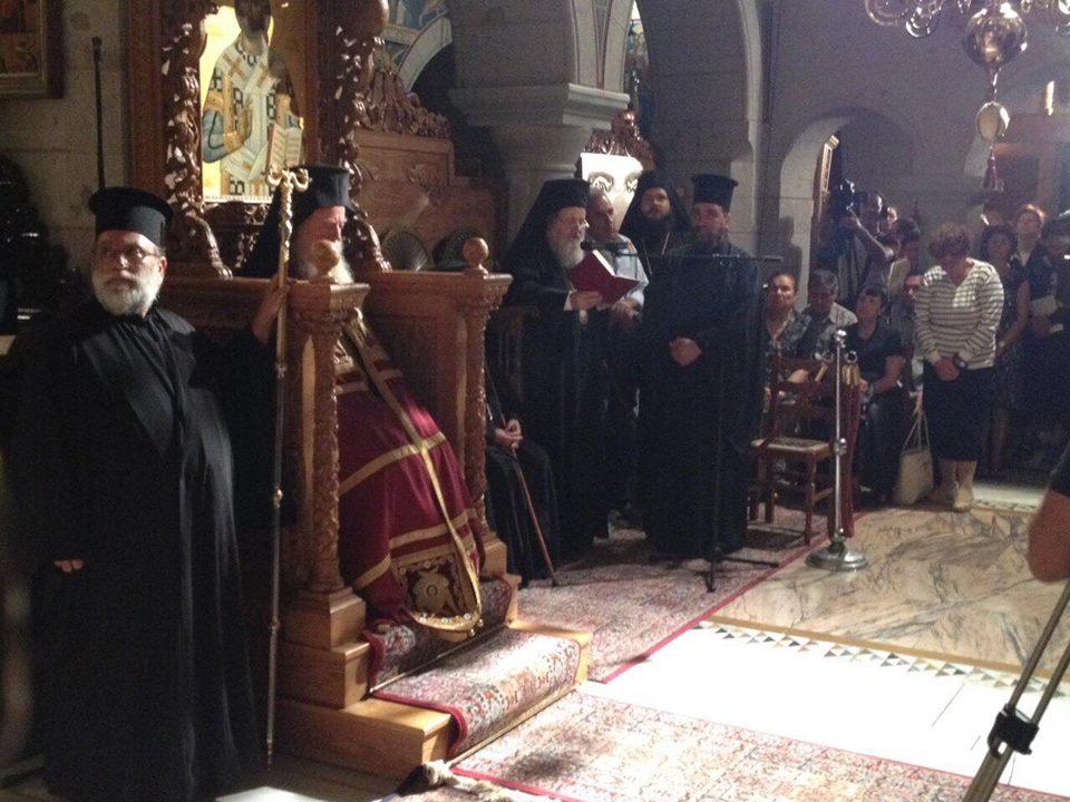 Ο Κυδωνίας Δαμασκηνός στην Πάτμο για την Αγιοκατάταξη του Αγίου Αμφιλοχίου Μακρή