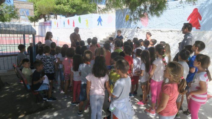 Ποιμαντική επίσκεψη Σύρου Δωρόθεου στο Δημοτικό Σχολείο Μάνα