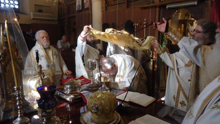 Αρχιεπισκοπικό Συλλείτουργο στην Ιερά Μονή Αγίου Νεφύτου στην Κύπρο