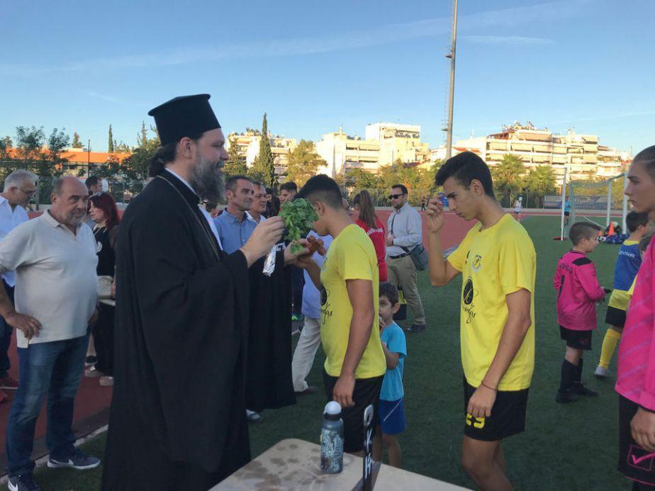 Αγιασμός στις Ακαδημίες Ποδοσφαίρου της ΑΕ Ελευθερούπολης από τον Μητροπολίτη Γαβριήλ