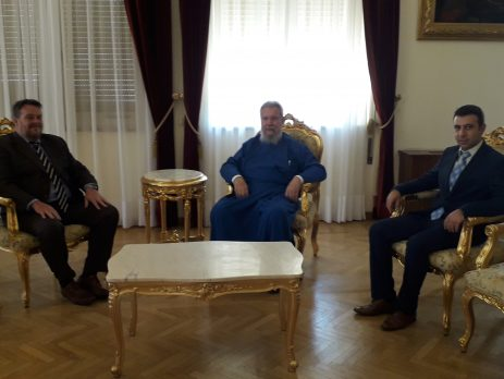Επίσκεψη του Ύπατου Αρμοστή της Αυστραλίας κ. Alan Sweetman στον Αρχιεπίσκοπο Κύπρου